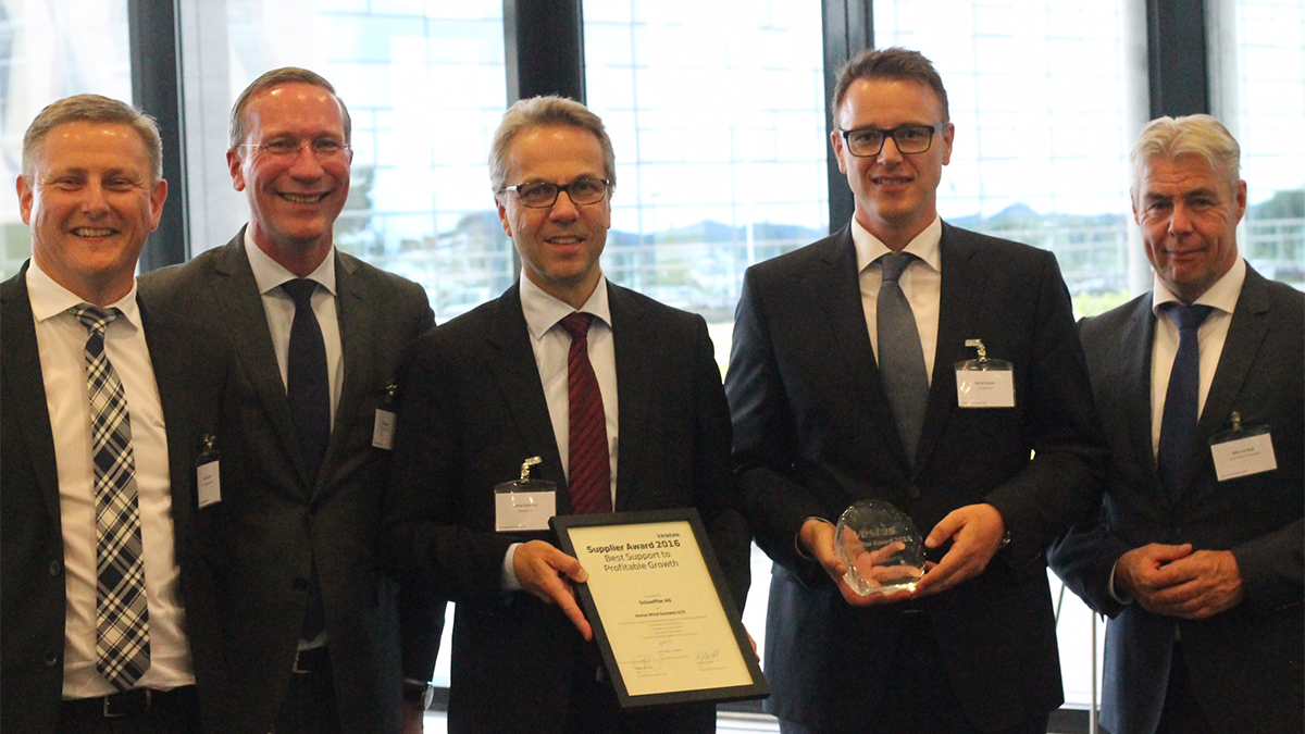 "Schaeffler receives ""Best Support to Profitable Growth"" award from Vestas"